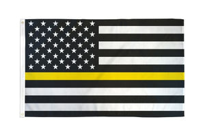 USA Thin Yellow Line 3x5ft Poly Flag