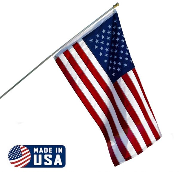 6ft Spinning Stabilizer Pole and American Made USA Flag Kit