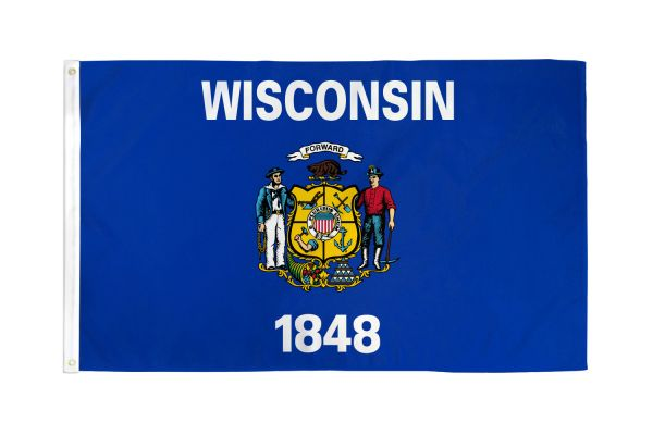 Wisconsin 3x5ft Poly Flag