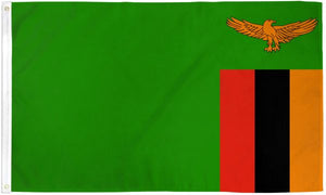 Zambia 3x5ft Poly Flag