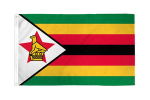 Zimbabwe 3x5ft Poly Flag