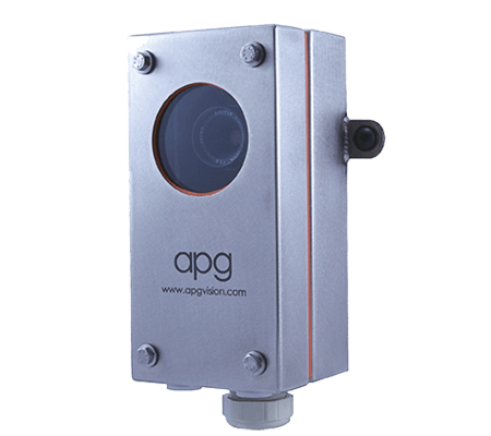 APG L7-AX Camera Enclosure with Cognex 7000 Series Mounting Arm, Food Grade, NEMA4X, IP67, Acrylic Viewport, No Air Curtain Face Plate, Sealed, Not Insulated - Machine Vision Direct