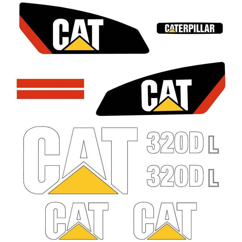 320D L Decal Sticker Set
