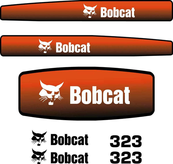 Bobcat 323 Decals Stickers