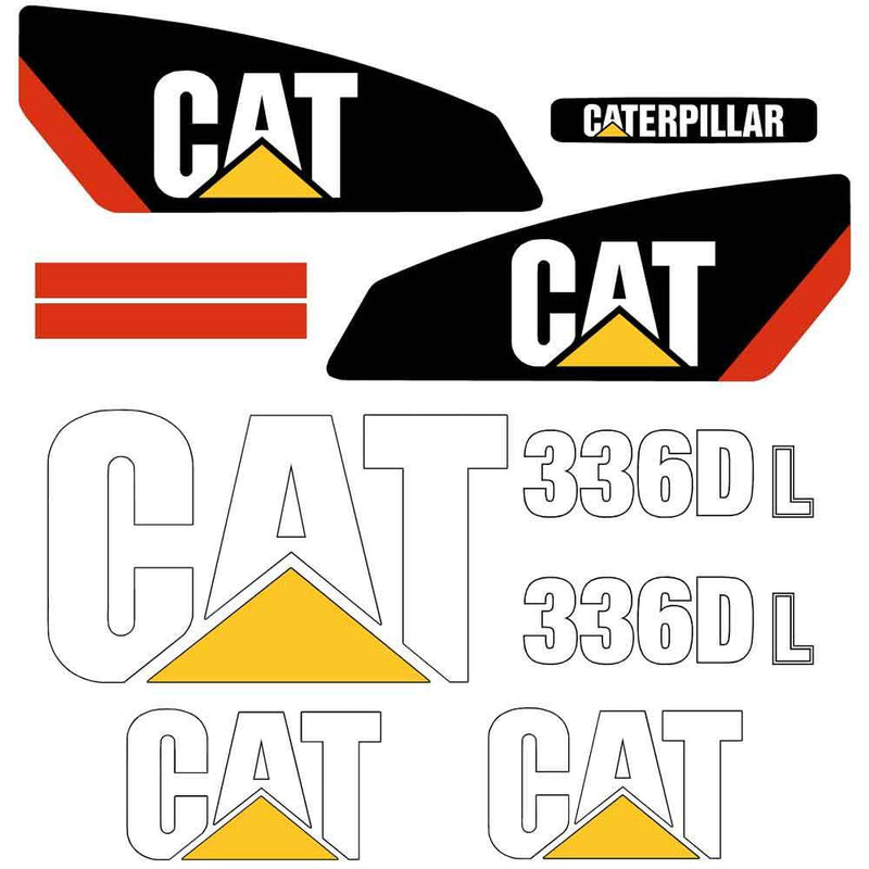 336D L Decal Sticker Set