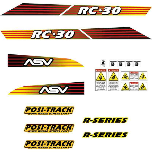 ASV RC30 Decals Stickers Kit