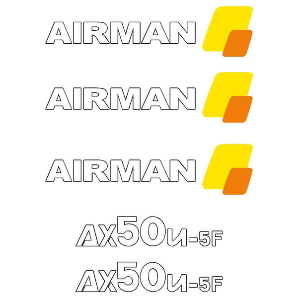 Airman AX50U-5 Decal Sticker Set