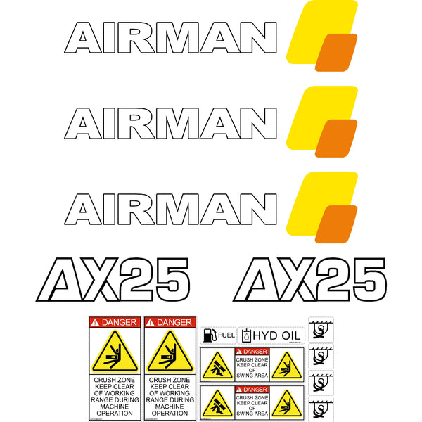 Airman AX25-2 Decals