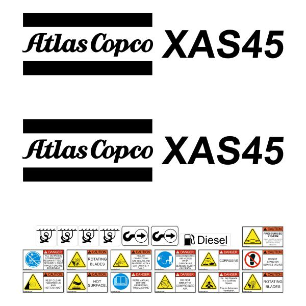 Atlas Copco XAS45 Decals