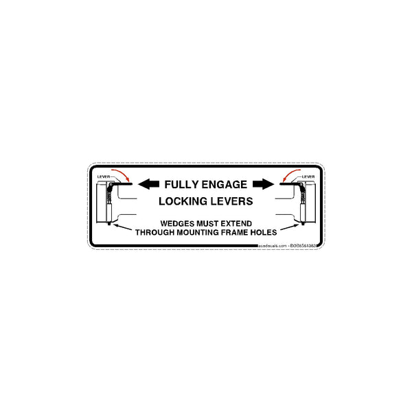 bobcat Engage Locking levers decal 6561383
