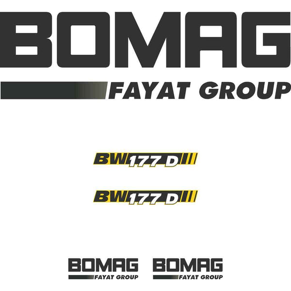 Bomag 177D-4 Decals Stickers
