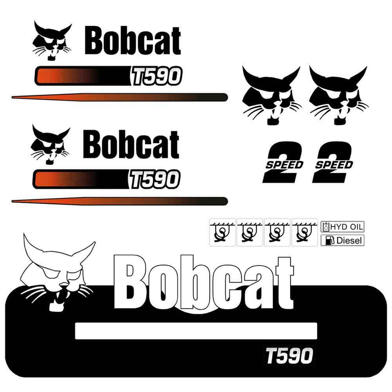 Bobcat T590 Decals Stickers