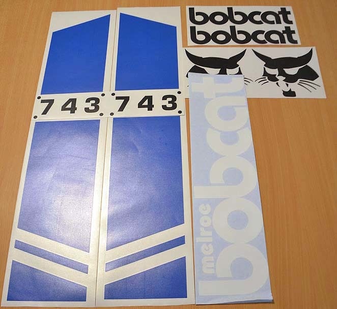 Bobcat Melroe 743 Decal Set
