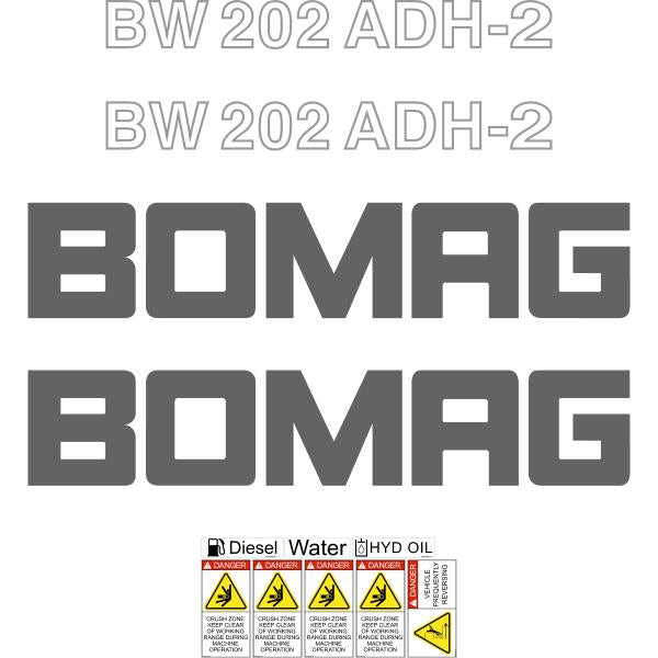 Bomag BW202ADH-2 Decals