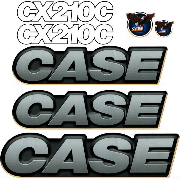 Case CX210C Decals Stickers Set