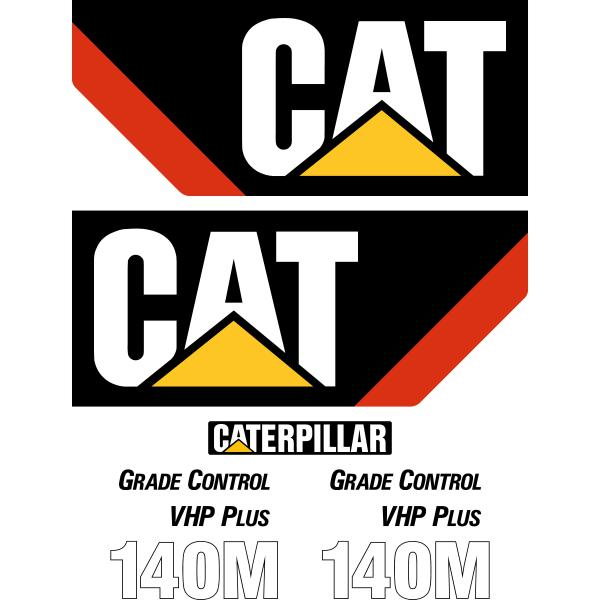 CAT 140M Decals