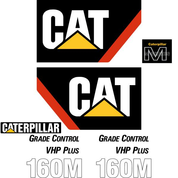 CAT 160M Decals Stickers Set