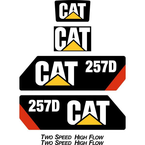 Cat 257D Decals Stickers Kit