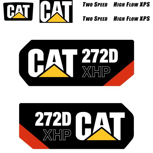 CAT 272D XHP Decals