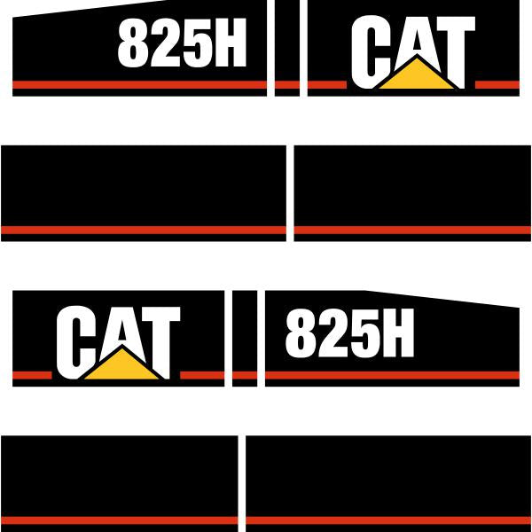 CAT 825H Decals Stickers