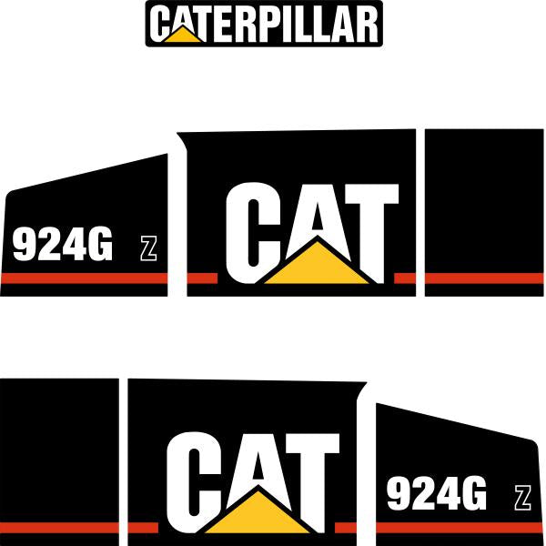 CAT 924G Z Decals Stickers