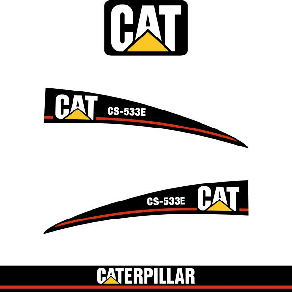CAT CS533E Decals