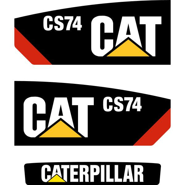 CAT CS74 Decals Stickers Set