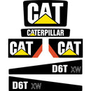 CAT D6T XW Decals