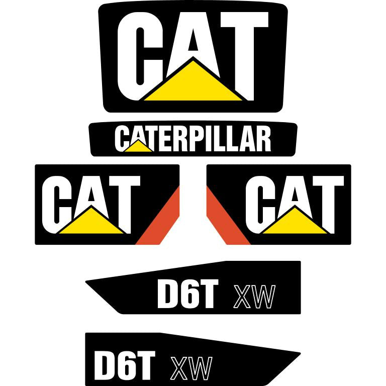 CAT D6T XW Later Decals