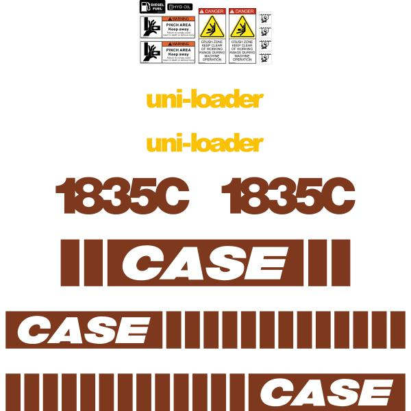 Case 1835C Decals Old Style Kit