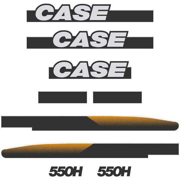 Case 550H Decals Sticker Set