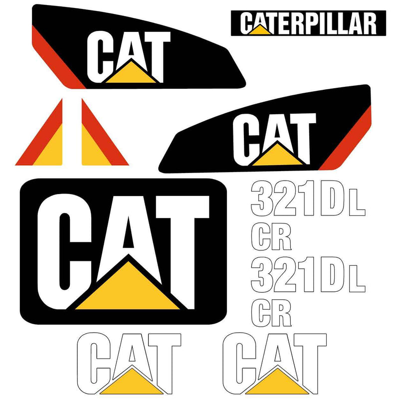 Cat 321D LCR Decals