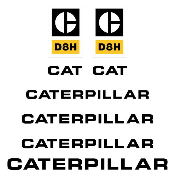 CAT D8H Decals