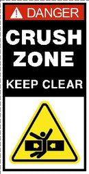 Crush Zone Keep Clear Decal