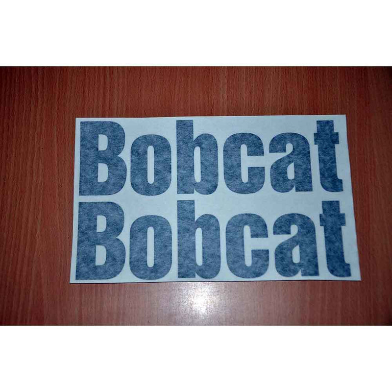 Two Bobcat Word Decals Stickers - New Style Lettering