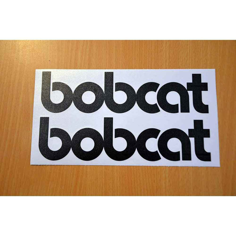 Two bobcat Word Decals Stickers - Old Style Lettering