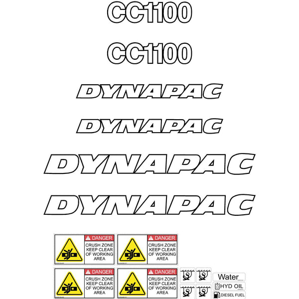 Dynapac CC1100 Decals