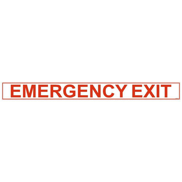 Emergency Exit Safety Decal Sticker