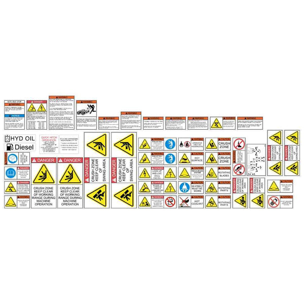 Excavator Safety Decal Kit