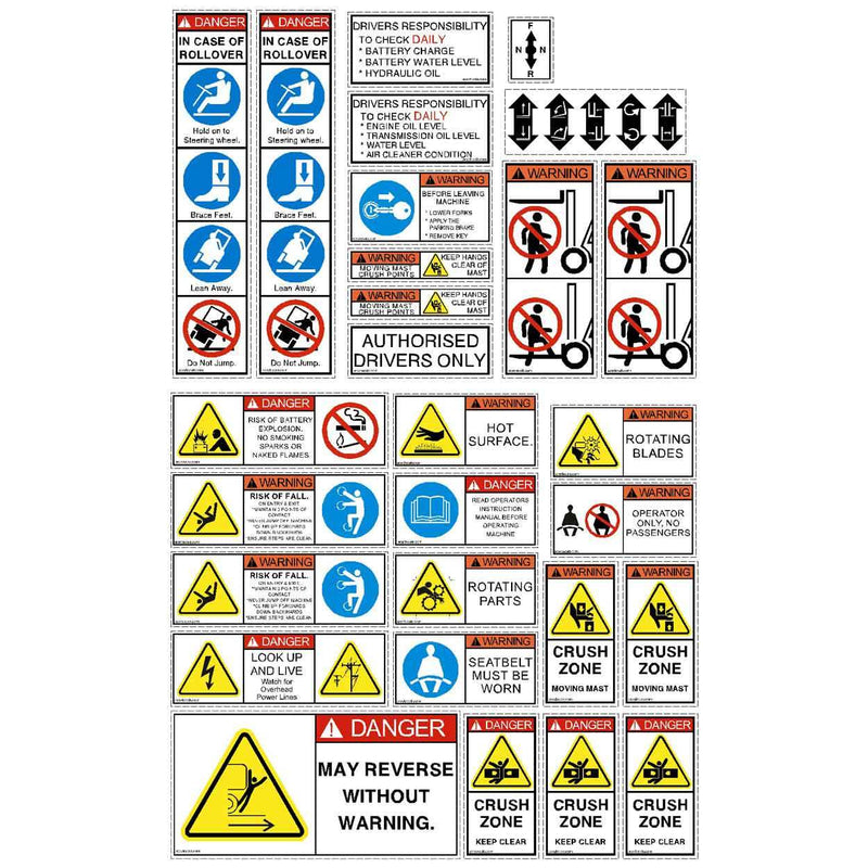 Forklift Safety Decal Kit