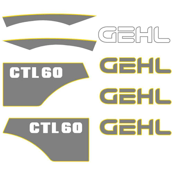 Gehl CTL60 Decal Sticker Set