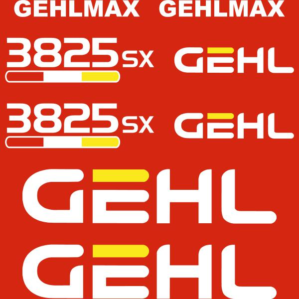 GehlMax 3825SX Decals Sticker Set