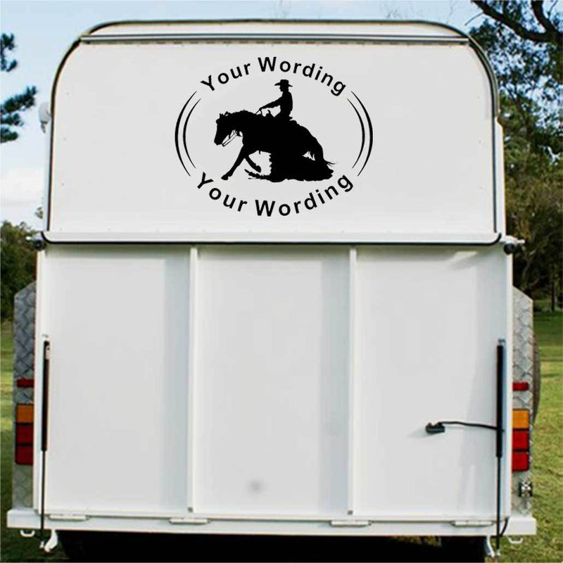 Reining Horse Float Decal - 1003