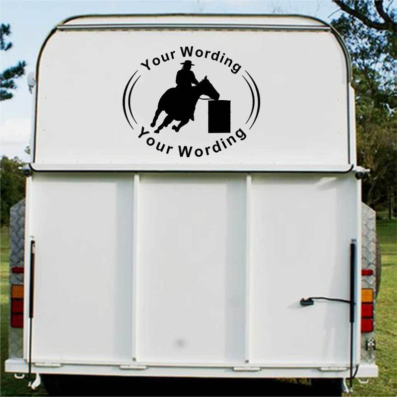 Barrel Racing Horse Float Decal