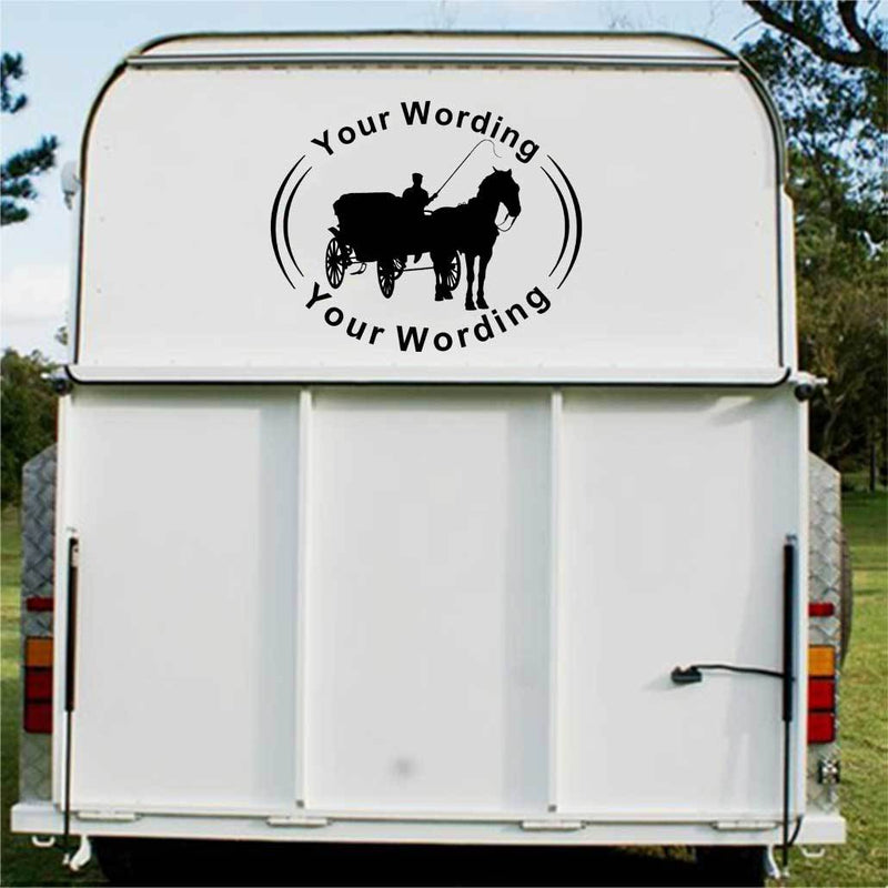 Carriage Driving Horse Float Decal