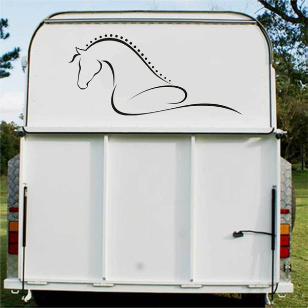 Horse Swirl Horse Float Decal