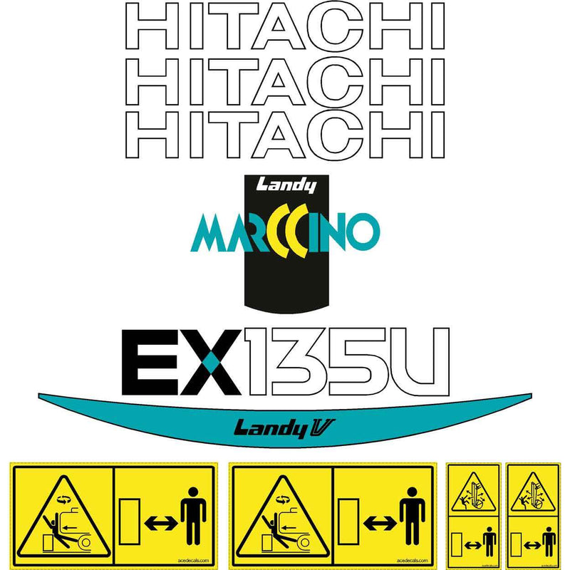 Hitachi EX135US-5 Decals