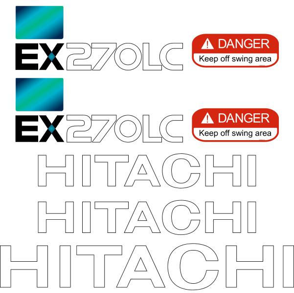 Hitachi EX270-5 LC Decals Stickers Set