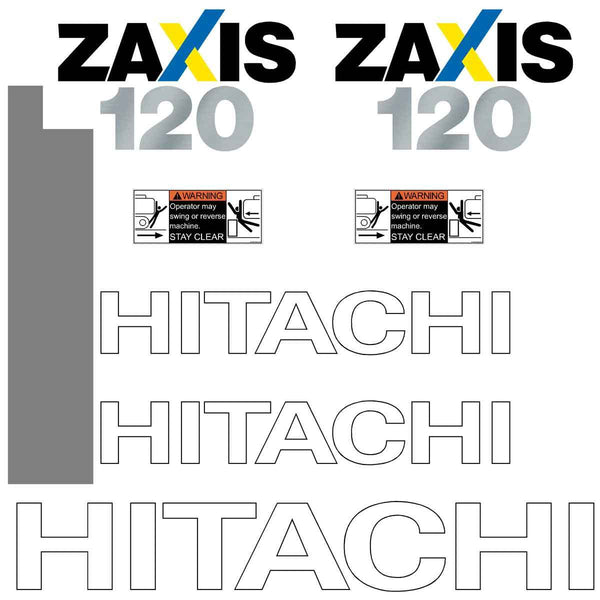 Hitachi ZX120-3 Decal Sticker Set