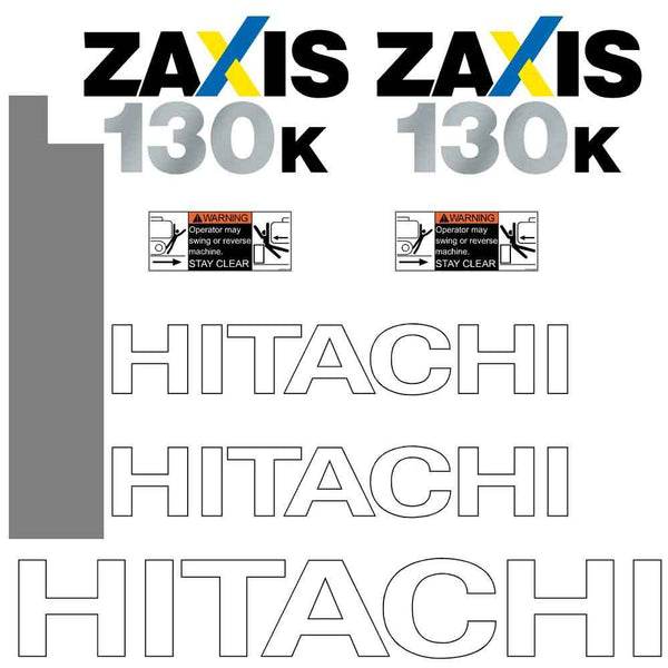 Hitachi ZX130K -3 Decals